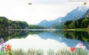 mountain lake animated wallpaper
