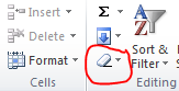clear format in excel