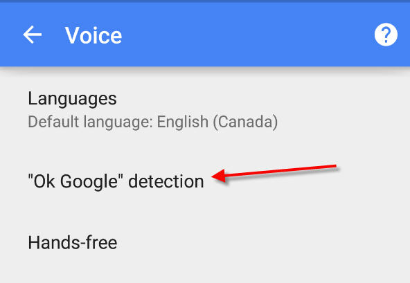 ok google detection to remove ok google