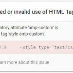 AMP – How to Fix Prohibited or Invalid Use of HTML Tag Error Due to WordPress Emoji Style