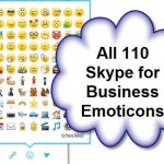 All 110 Skype for Business Emoticons and Keyboard Shortcuts