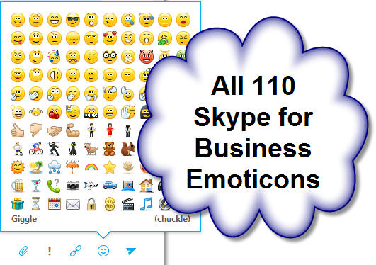 All 110 Skype For Business Emoticons And Keyboard Shortcuts Dummytech