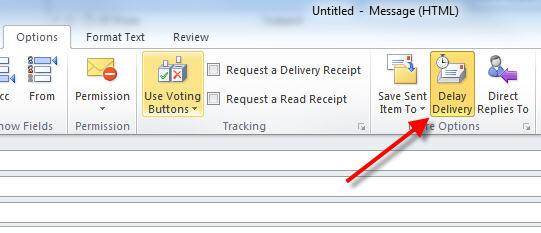 delay sending button