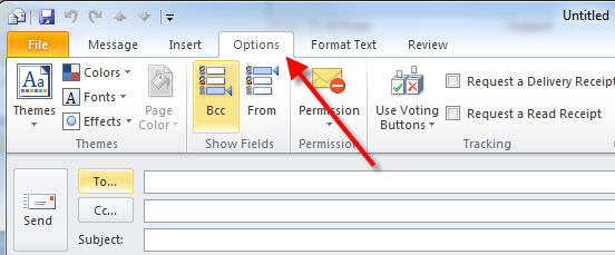 outlook 365 options tab for delay sending