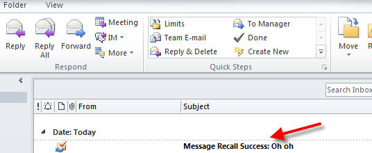 How To Recall An Email >> How To Recall An Email In Outlook 365 Dummytech Com