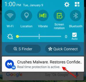 remove malwarebytes notification