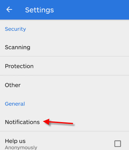malwarebytes notification settings link