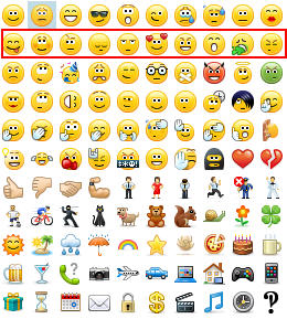 skype for business emoticons row 2