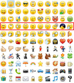 skype for business emoticons row 4
