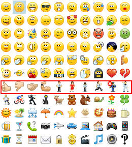 skype for business emoticons row 7