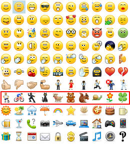 skype for business emoticons row 8