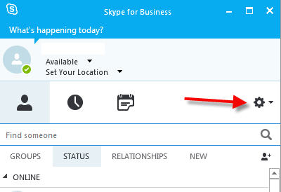 skype for business options