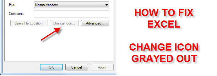 How to Fix Excel Change Icon Grayed Out - DummyTech com