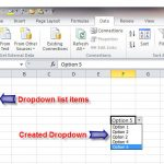how to create dropdown list in excel