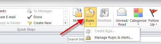 rule to forward emails in outlook