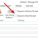 How to Request a Read Receipt in Microsoft Outlook 2013