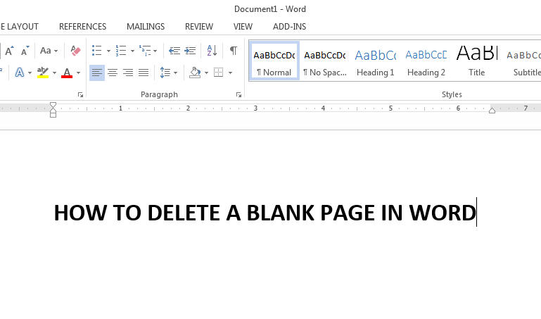 how to delete a blank page in microsoft word