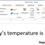 How to Insert Degree Symbol in Microsoft Word