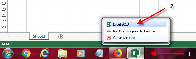 open 2 excel files in separate windows new session