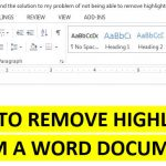 How to Remove Highlights from a Word Document