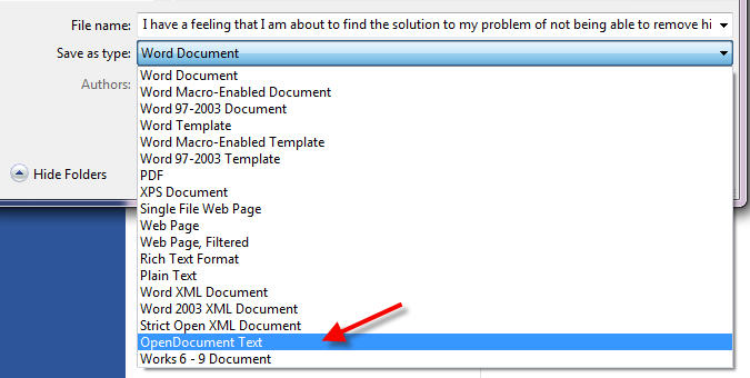 remove highlights from a restricted word document