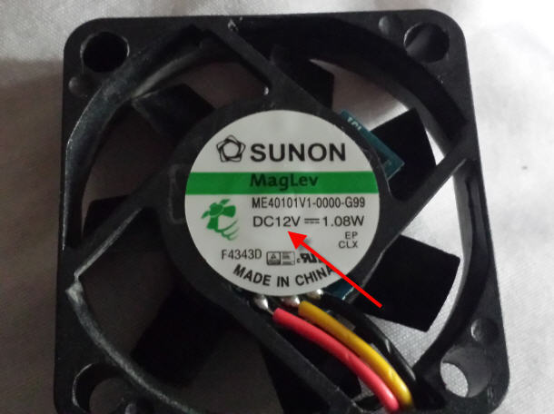 replacement cpu fan voltage