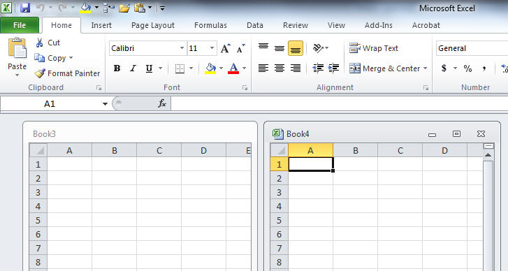 side by side excel files