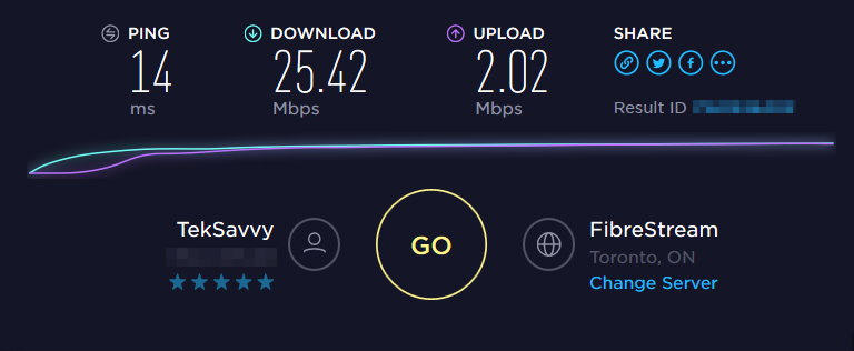 teksavvy internet review speed test