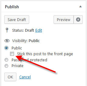 make sticky post in wordpress