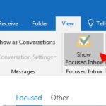 disable focused inbox in outlook