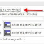 How to Open a New Window When Replying in Outlook 2016