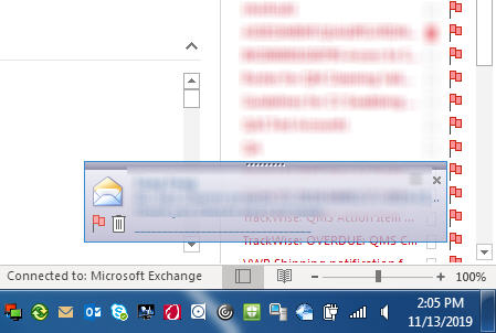 outlook email alerts