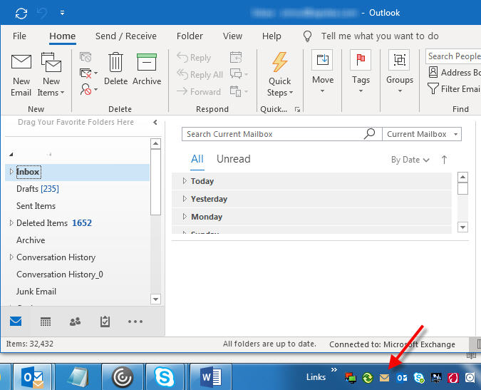 outlook new mail icon
