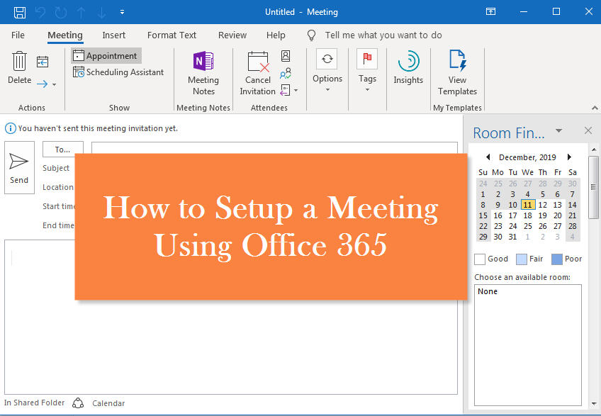 how to setup a meeting with office 365