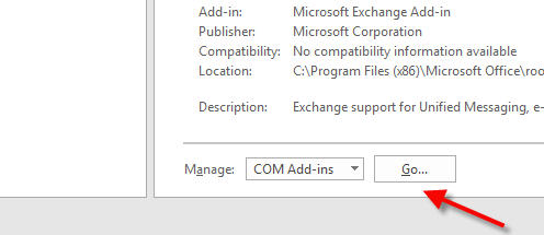 turn on skype meeting option with com manage