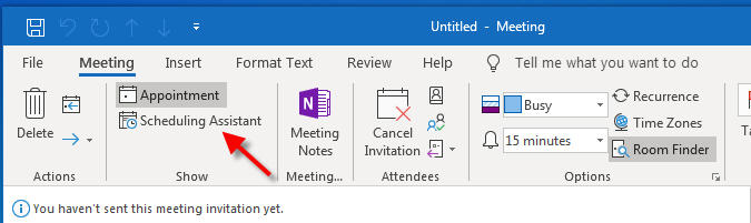 scheduling assistant for outlook