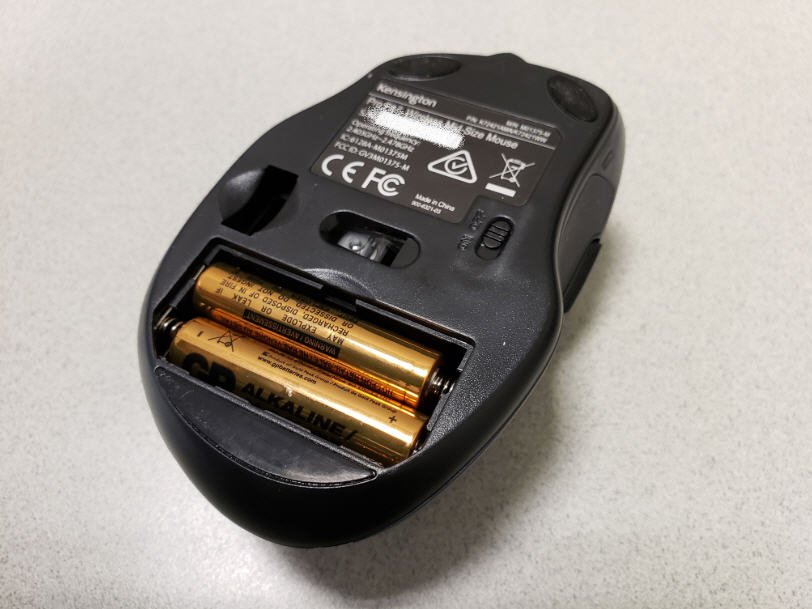Replace the batteries of the wireless mouse