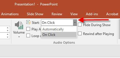 audio start automatically