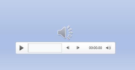 audio file in slide show