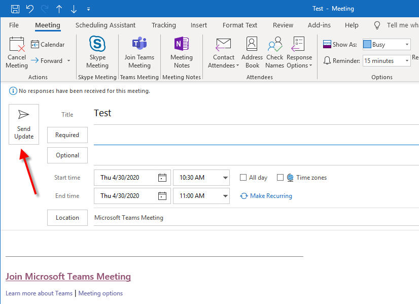 change microsoft teams meeting