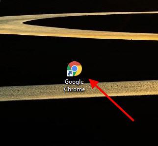 google chrome icon on desktop